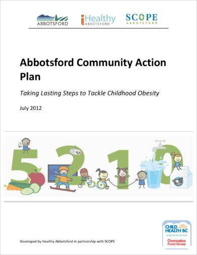 standard community action plan example