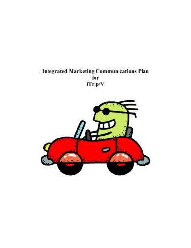standard integrated marketing communications plan example