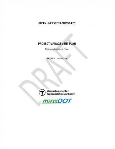 standard project management plan example