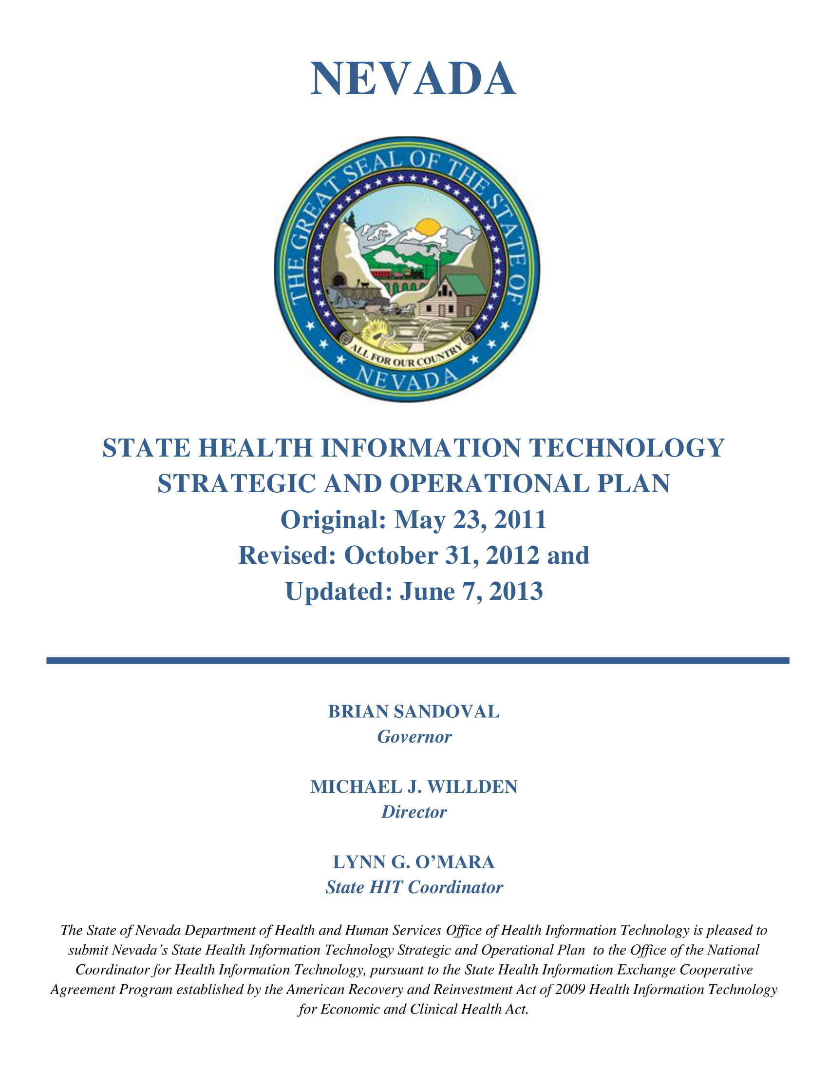 state health information technology strategic and operational plan example 001