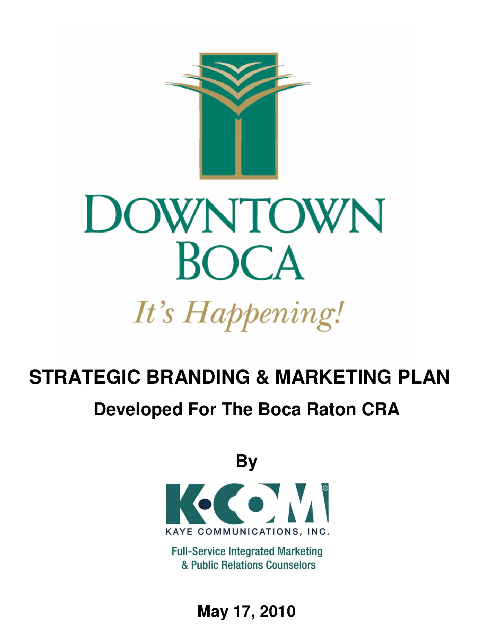 strategic branding and marketing plan example