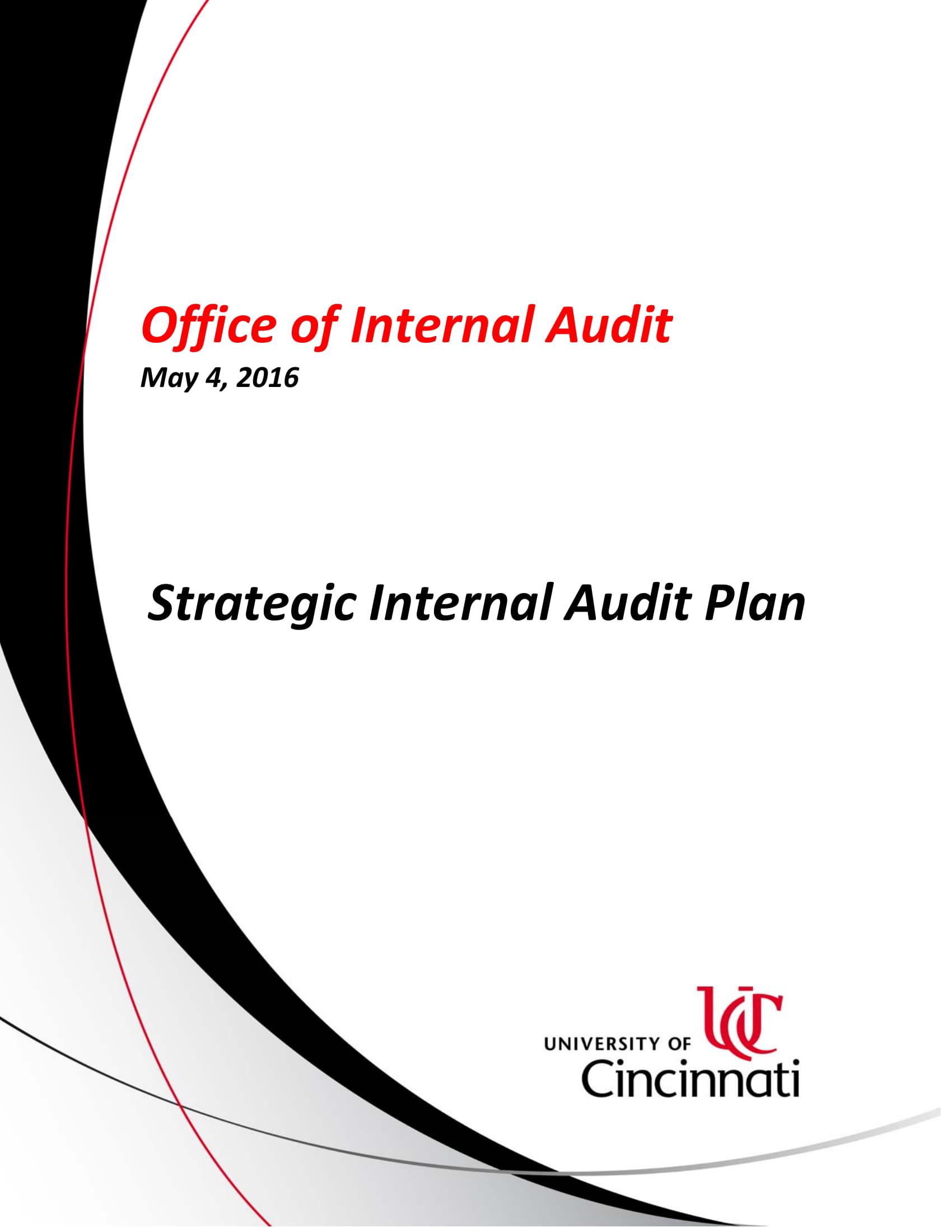 strategic internal audit plan example