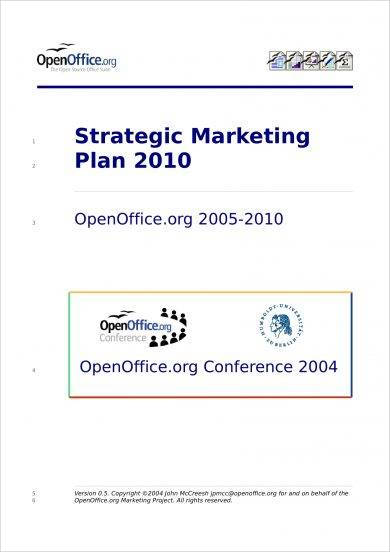 strategic marketing plan for a project example