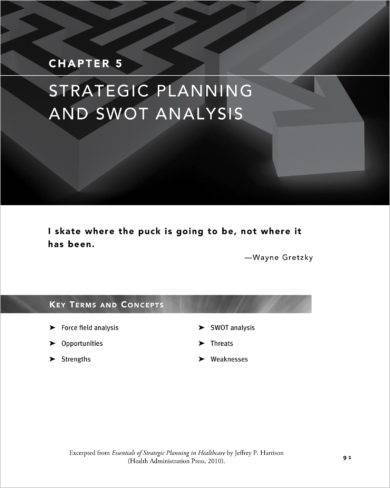 strategic planning and swot analysis for competition preparedness example