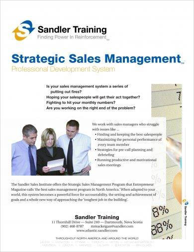 strategic sales management and planning example
