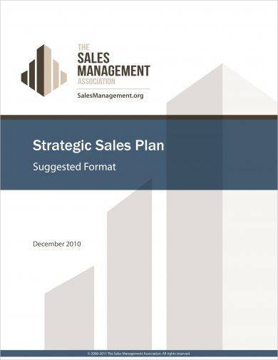 strategic sales plan format example