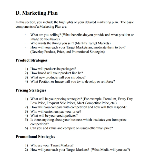 9 advertising and marketing business plan examples pdf strategies for business plan example wajeb Choice Image