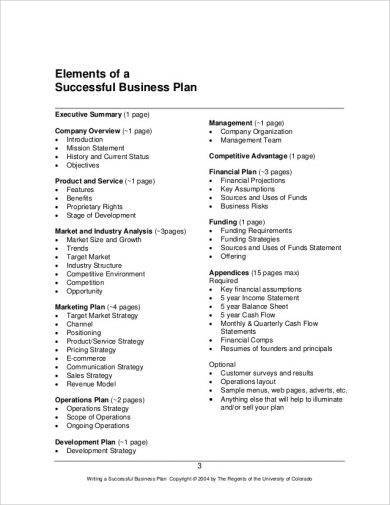 successful business plan elements1