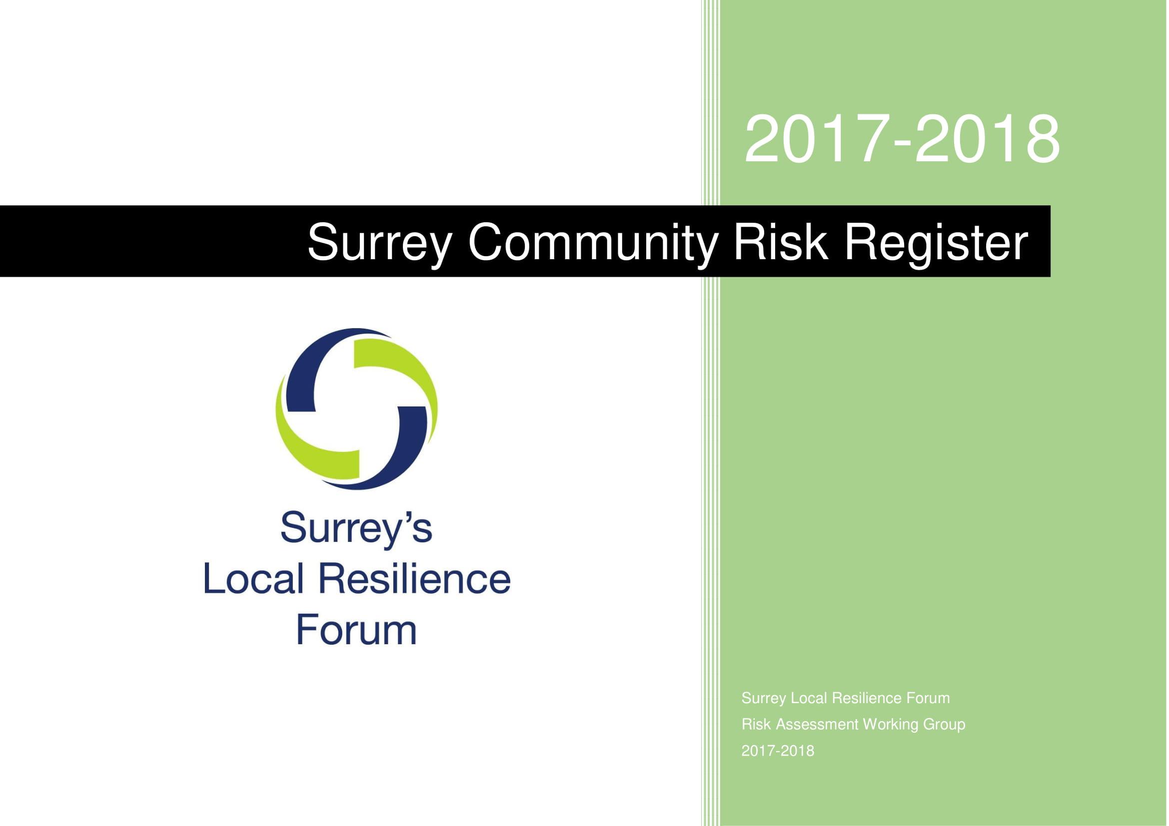surrey community risk register example