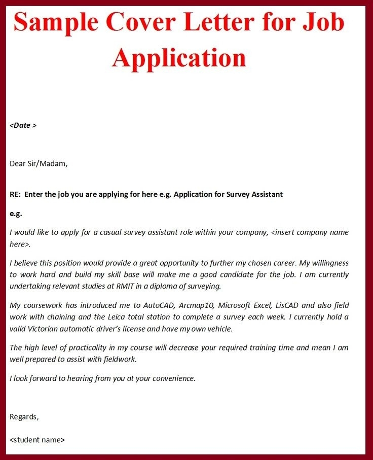 9  official job application letter examples
