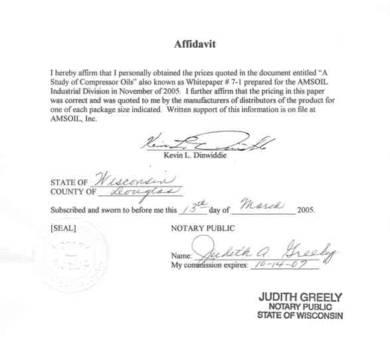 sworn affidavit form example