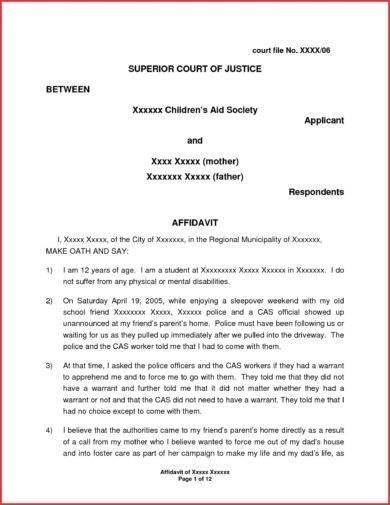 sworn affidavit template1