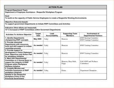 tabular action plan1
