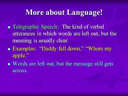 telegraphic speech samples