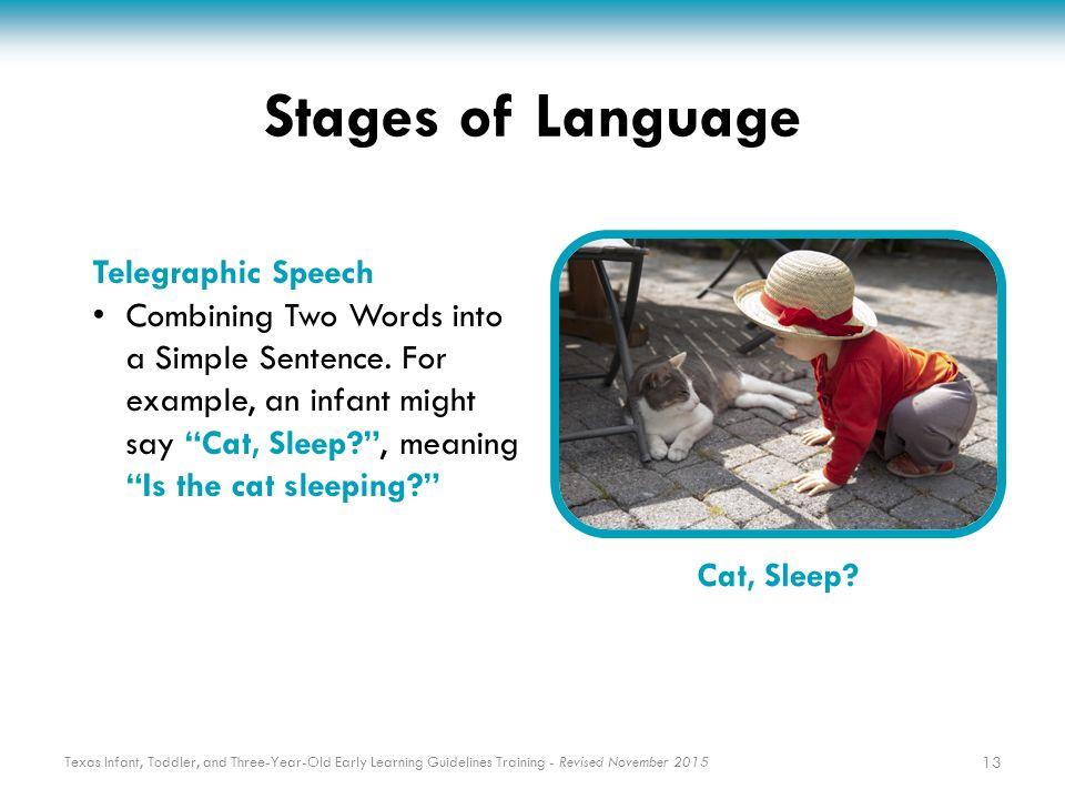 telegraphic stage of language