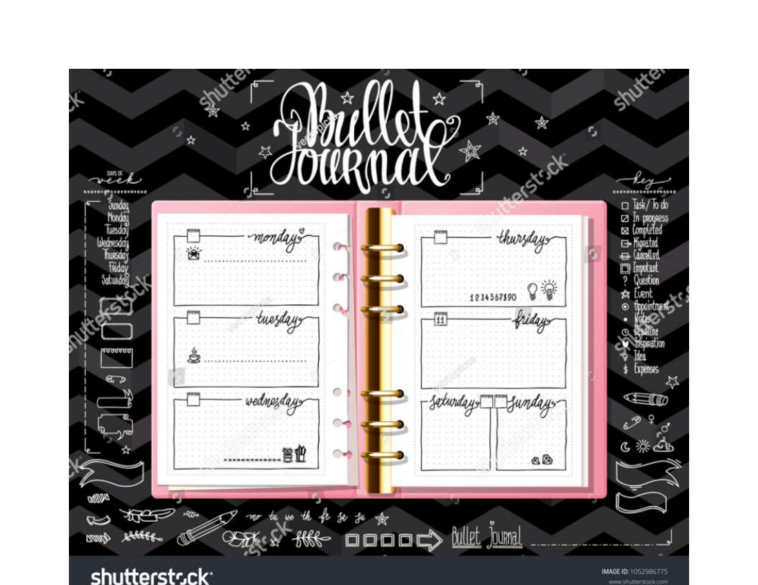template bulle journal example