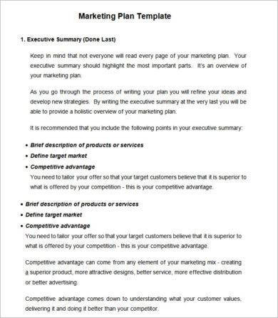 template for marketing strategy business plan example1