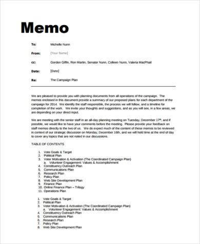 the campaign plan memo example1