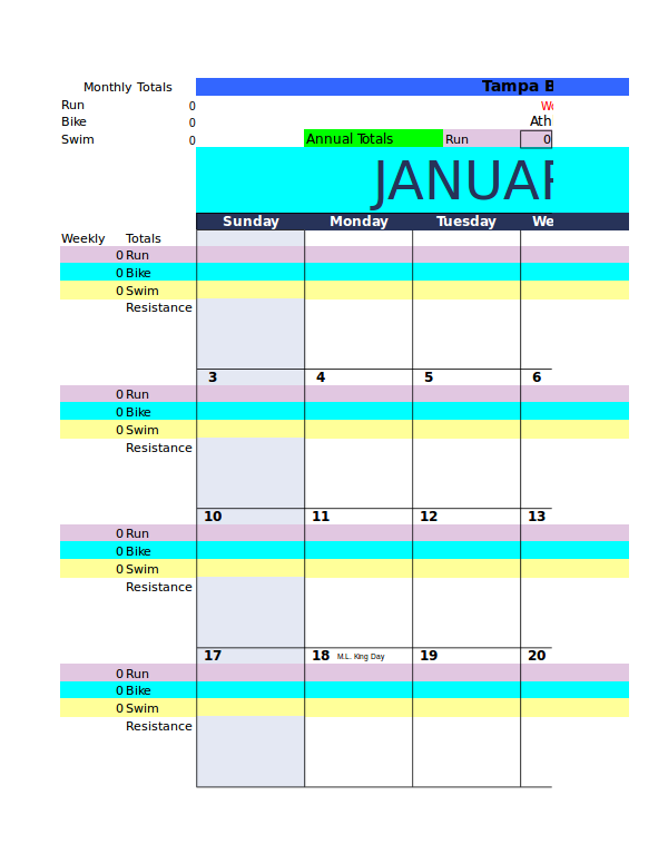 6 workout log excel examples