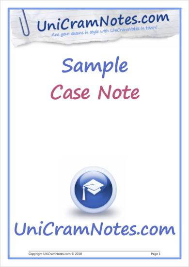 unicram case note example1