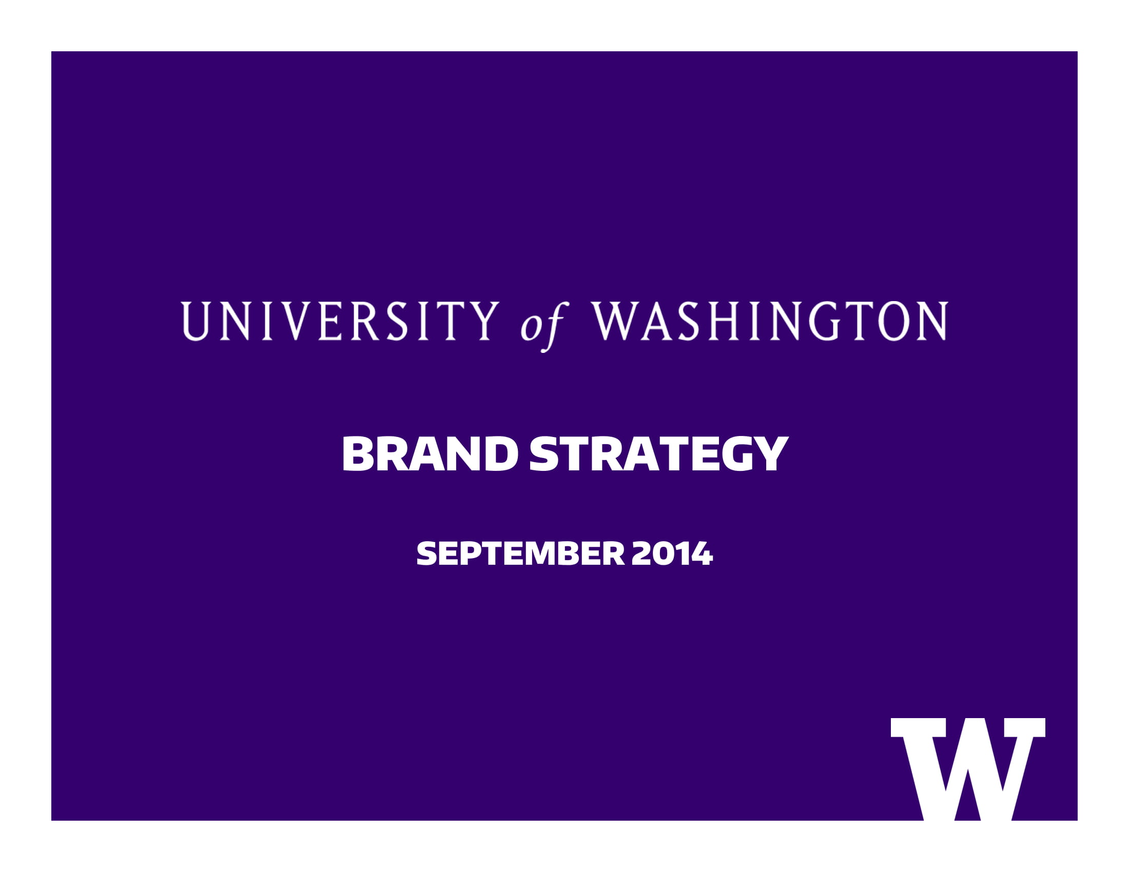 university brand strategy plan example