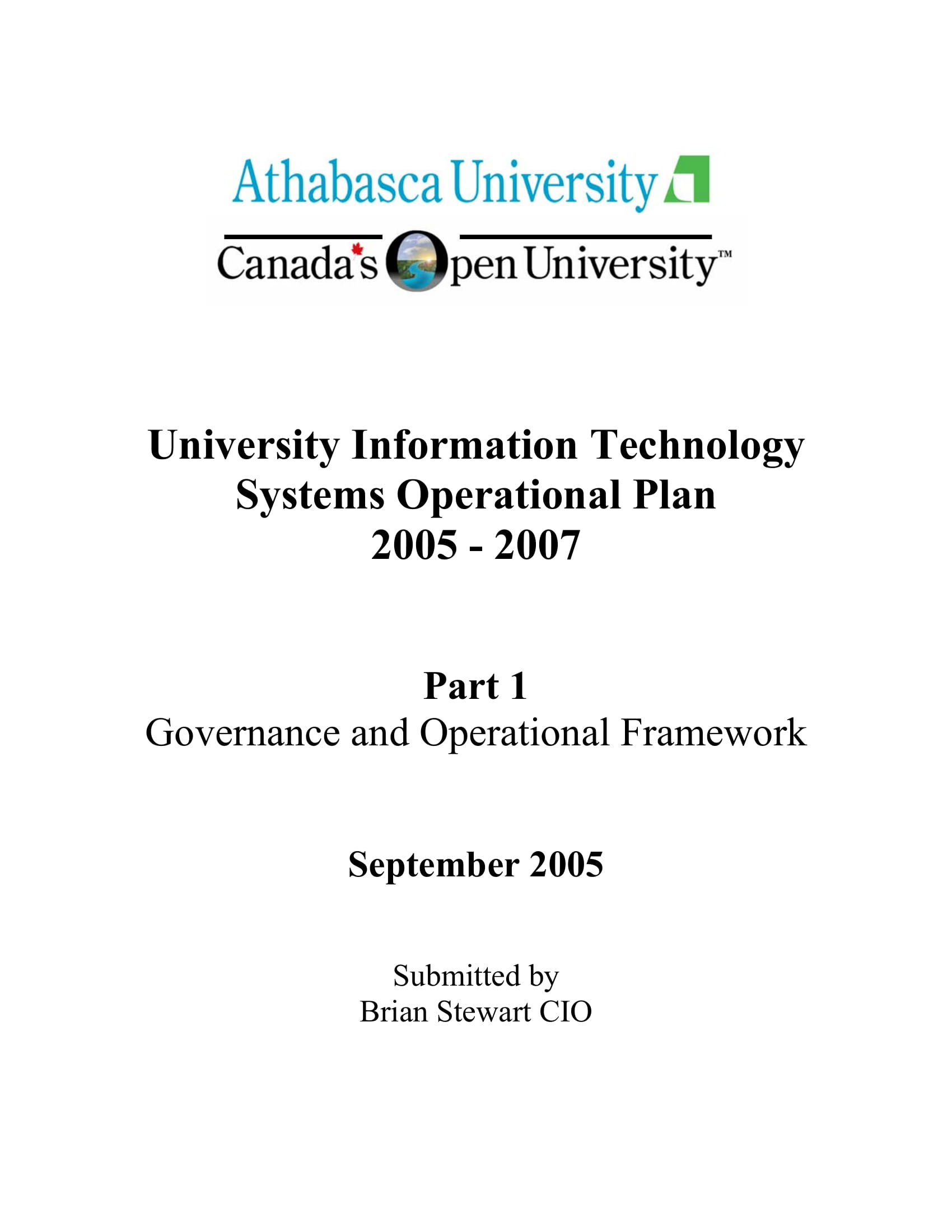university information technology systems operational plan example 01