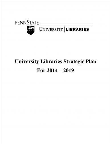 university libraries strategic plan example