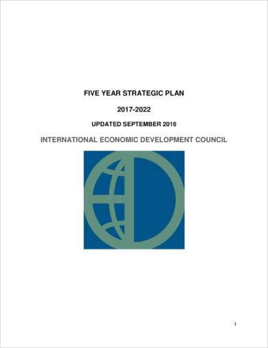 updated five year strategic plan example