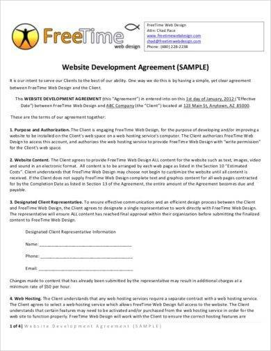 website development agreement1