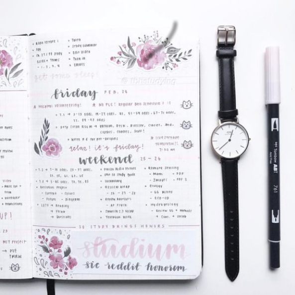 weekly personalized journal example