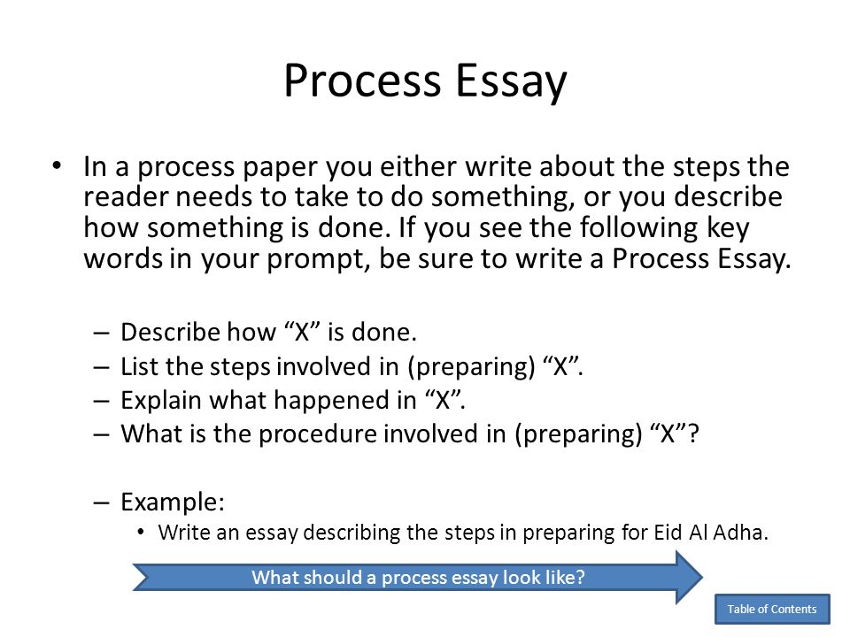 How Do You Write A Process Paper