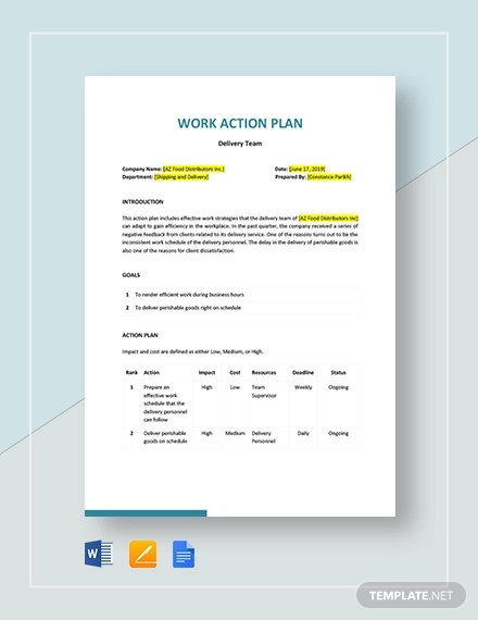 work action plan template1