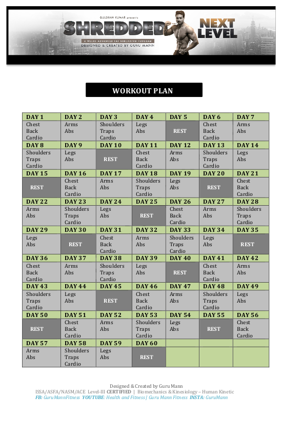 workout plan for weight loss