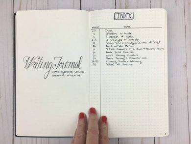 writing journal craft elements and lessons learned