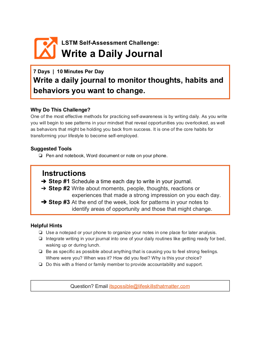 writing a daily journal
