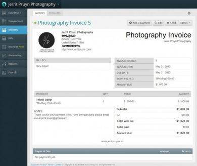 errit pruyn photography invoice example