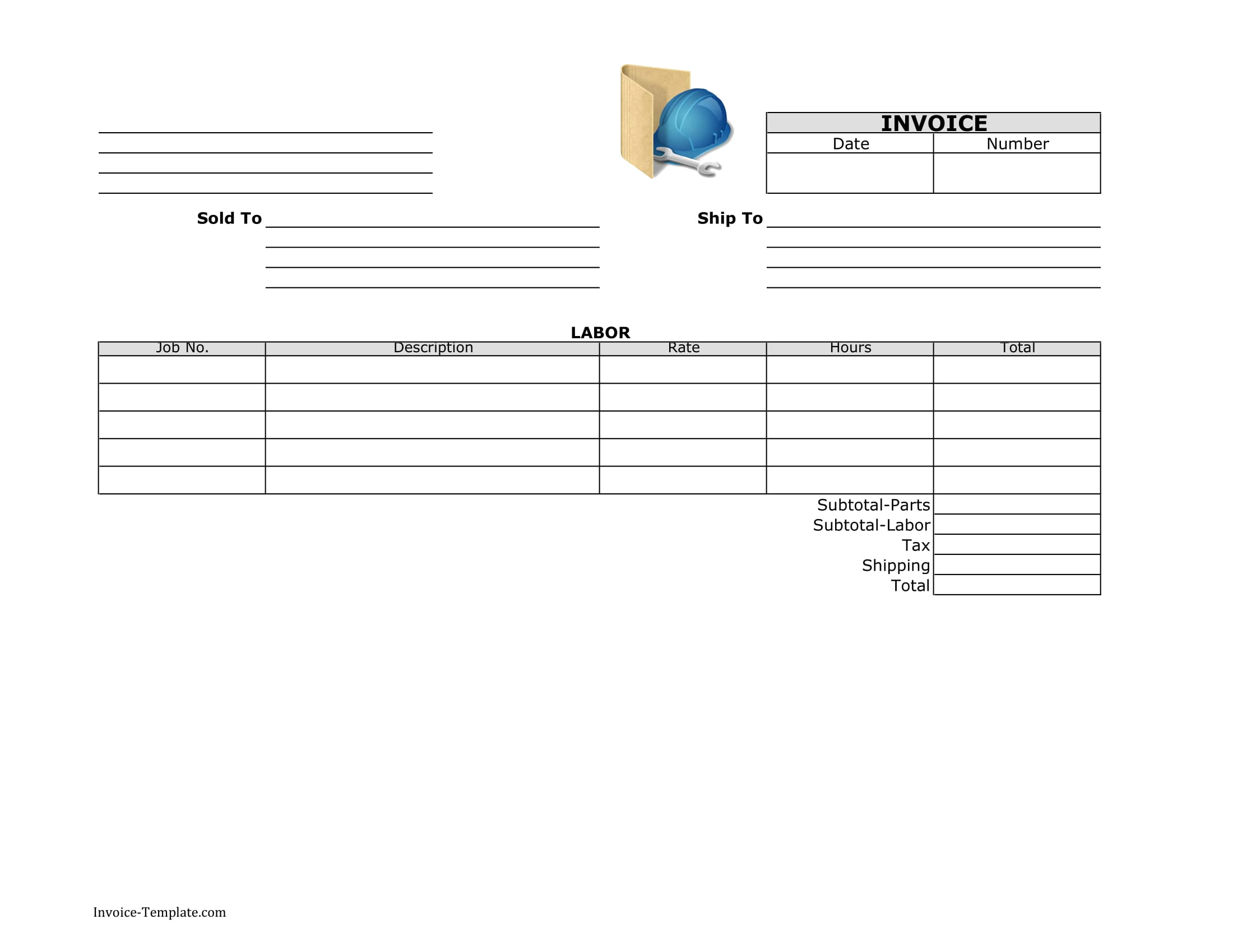 general labor invoice template