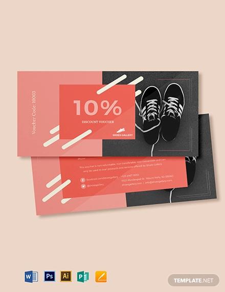 10 discount voucher template