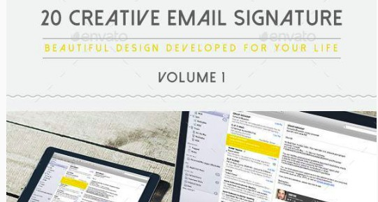 20 creative photography email signature example