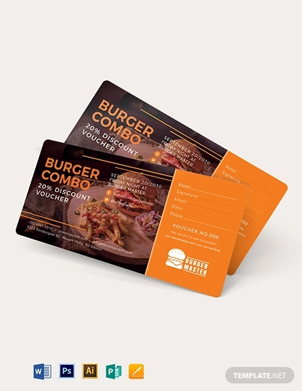 20 discount voucher template