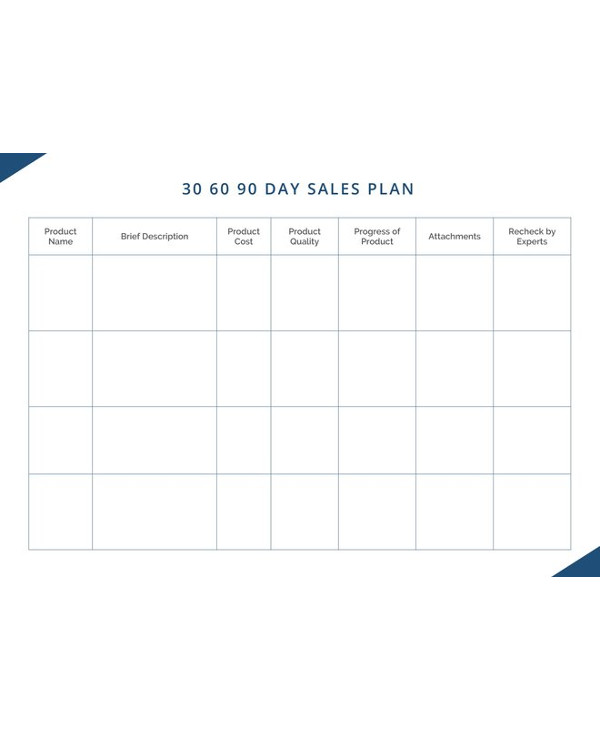10 30 60 90 day sales plan examples pdf word 30 60 90 day sales plan template maxwellsz