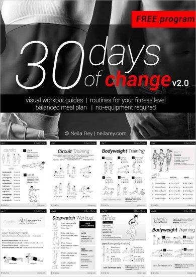 30 day no equipment workout plan example1
