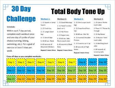30 day total body tone up workout plan example1