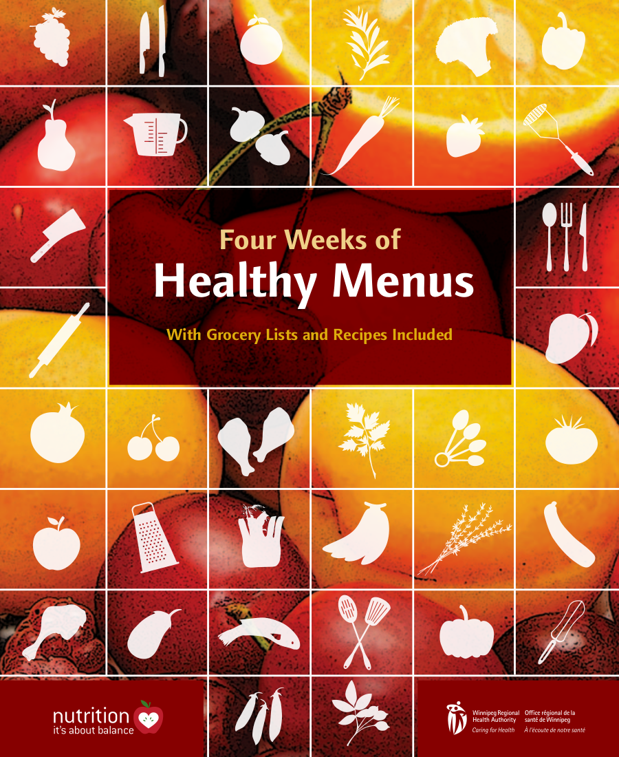 4 weeks of healthy menus example