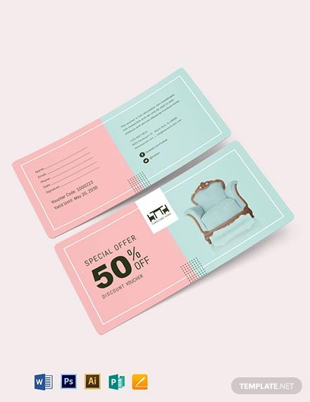 50 discount voucher template