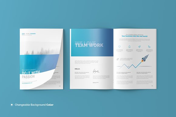 a4 t shirt brochure and catalog mock up example