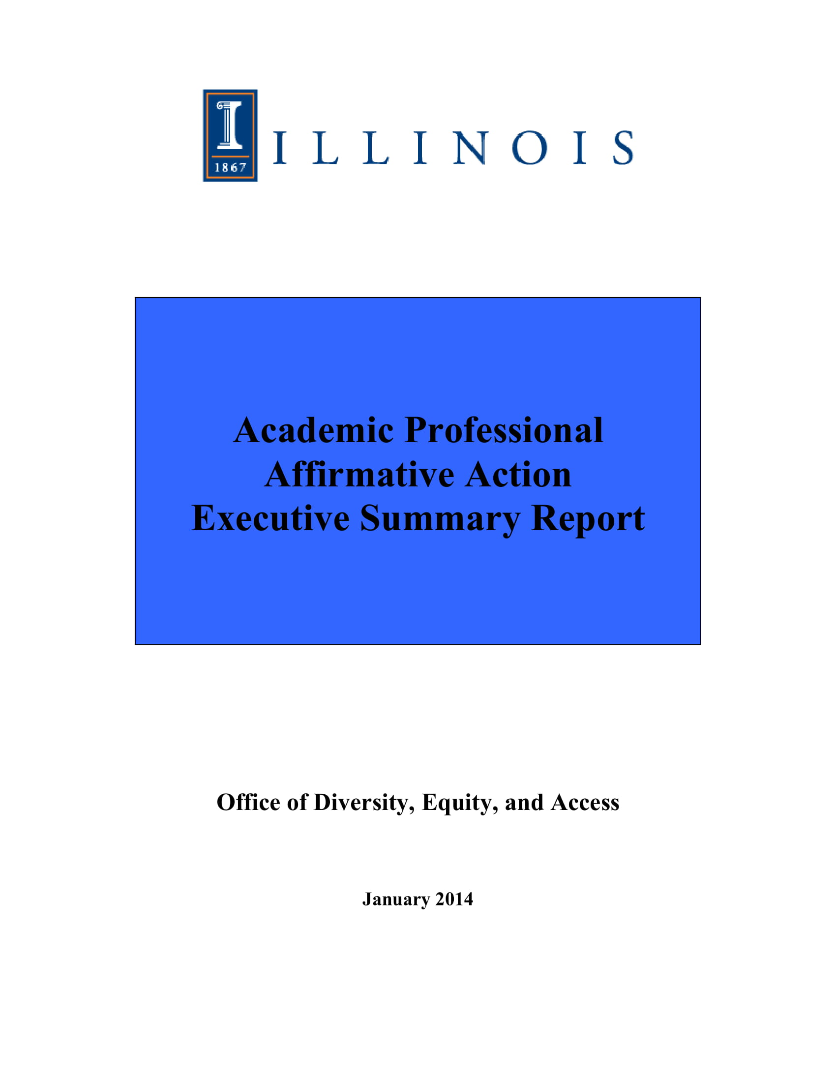 academic professional affirmative action plan executive summary report example 01