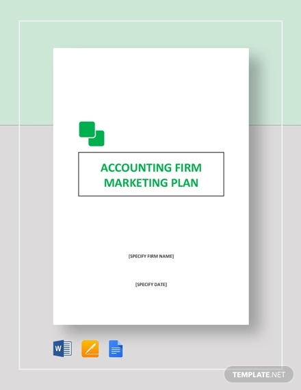 accounting firm marketing plan example