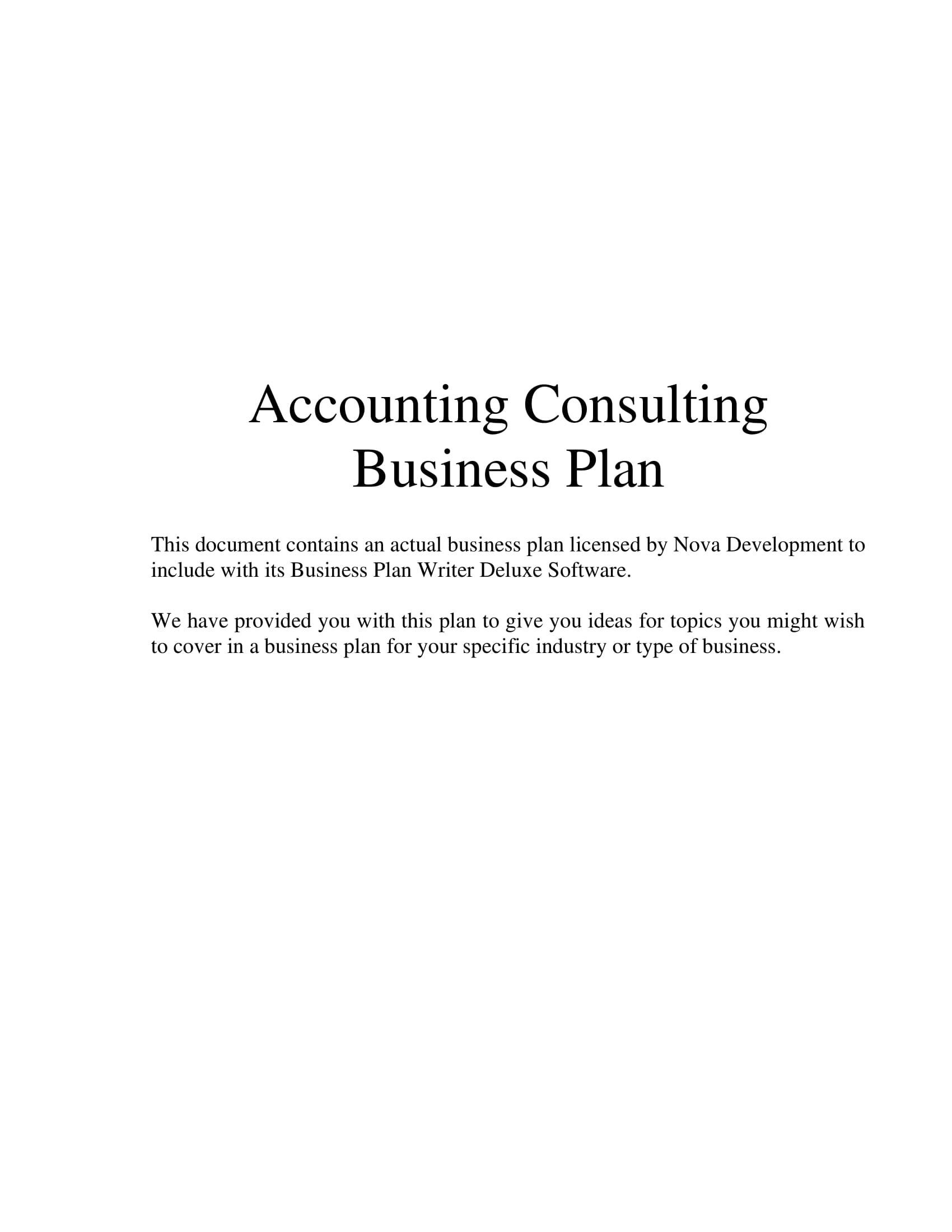 accounting and bookkeeping business plan example
