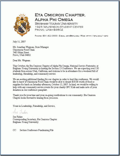 7 official correspondence letter examples pdf